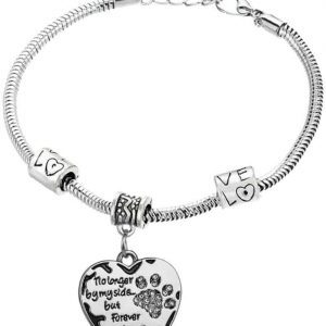 Forever in my hart bedel armband | dierenpoot | gedenk | kat | hond | poes