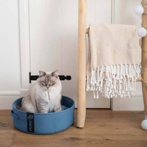 Kattenmand Lounge Denim Blauw