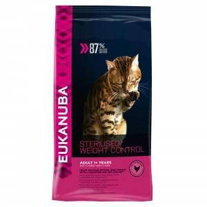 Eukanuba Adult Sterilised/Weight Control kattenvoer 10 kg
