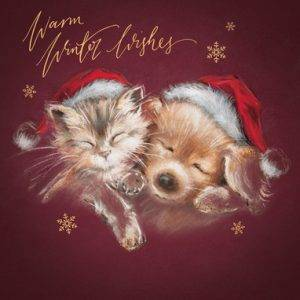 Kerstkaart | UK Greetings Kat en Hond