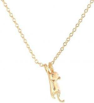 24/7 Jewelry Collection Kat Ketting - Poes - Glanzend - Goudkleurig