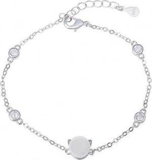 24/7 Jewelry Collection Parel en Kat Armband - Poes - Diamantjes - Zilverkleurig