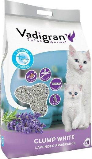 Cat litter white coarse 10kg (12l)