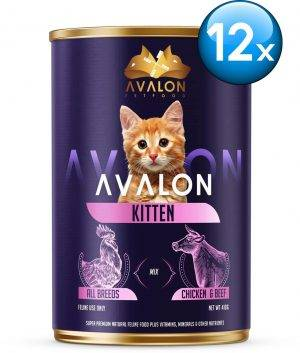 Avalon Cat Kitten - Kattenvoer - 12 x 410 gr