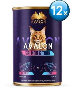 Avalon Cat Salmon & Tuna - Kattenvoer - 12 x 410 g