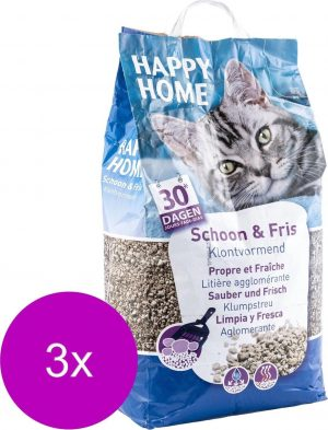 Happy Home Clumping Clean - Kattenbakvulling - 3 x 20 l