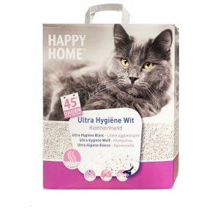 Happy Home Ultra Hygiëne Wit - Kattenbakvulling - 10 l