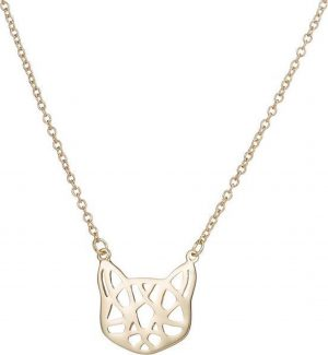 24/7 Jewelry Collection Origami Kat Ketting - Poes - Goudkleurig