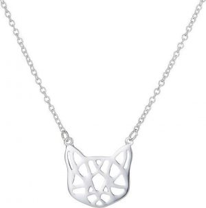 24/7 Jewelry Collection Origami Kat Ketting - Poes - Zilverkleurig