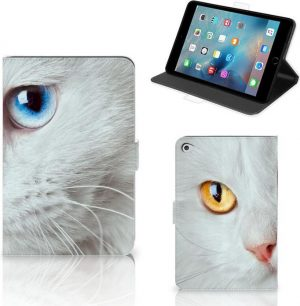 Apple iPad Mini 5 Flip Case Witte Kat