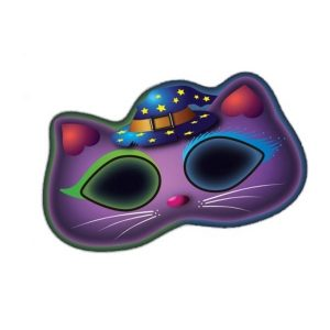 Amscan Masker Glow In The Dark Kat