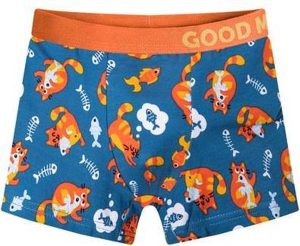 Good Mood Jongens Boxer - Kat en Vis - 122/128