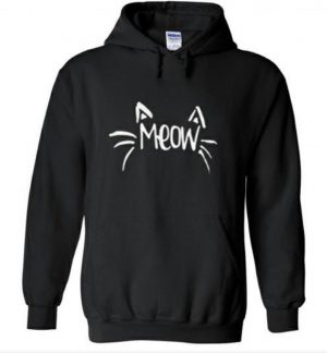 Hippe sweater | Hoodie | i love cats | Meow | maat Small