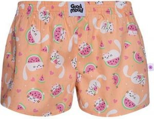 Good Mood Dames Short - Watermeloen Kat - 2XL