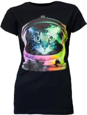 Hybris Poes in Space Dames T-shirt M