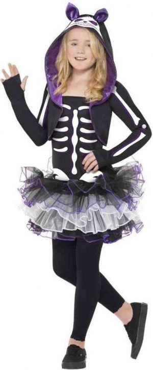 Skelly Cat Costume - Halloween verkleedkleding - L