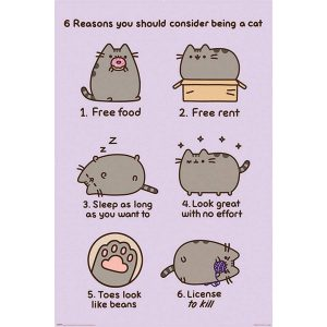 Pyramid Pusheen Reasons To Be A Cat Poster 61x91,5cm