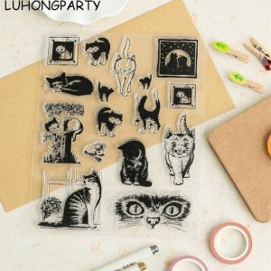 transparante stempel Poes kat clear stamp