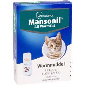 Mansonil All Worm Cat Ontworming - Kat - 2 tabletten