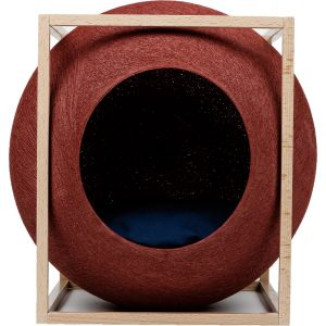 The Clay Cube Wood Edition - Meyou Parijs. Luxe Franse design kattenmand