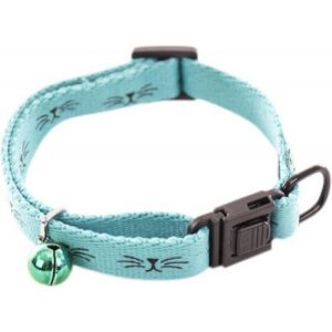 Martin sellier halsband voor kat frimousse turquoise 20-30x1 cm